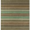 """Green & Brown Striped """"Pimlico"""" Rug ( L: 230cm W: 160cm )"""