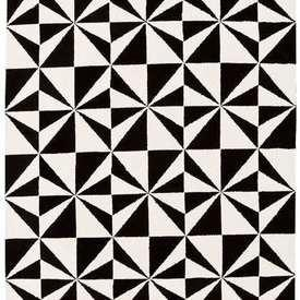 "Black & White Mono Mosaic ""Arlo"" Rug"