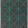"Charcoal Grey & Green Geometric ""Prism"" Rug ( L: 290cm W: 200cm )"
