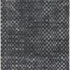 "Charcoal Grey Checked ""Oska"" Rug ( L: 230cm W: 160cm )"