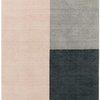 """Pink & Grey """"Blox"""" Wool Rug ( L: 230cm W: 160cm )"""