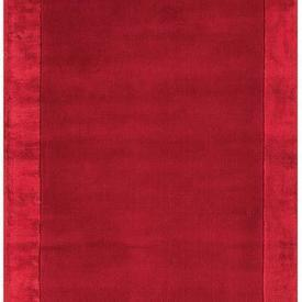 "Red ""Ascot"" Rug with Border"
