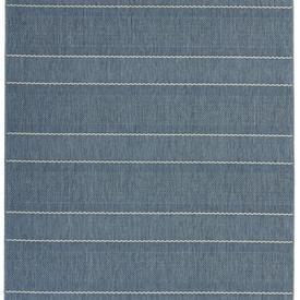 "Blue & Cream Striped ""Patio"" Rug"