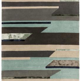 """Grey & Blue Tones """"Matrix"""" Rug"""