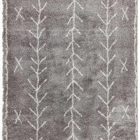 """Grey & Cream Arrow Pattern """"Rocco"""" Rug"""