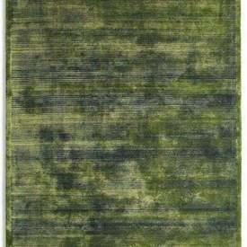 Green & Navy Blue Striped ''Udaipur'' Rug
