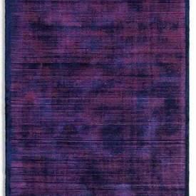 Navy Blue & Rose Pink Striped ''Udaipur'' Rug