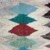 Cream, Black & Coloured Tapestry Rug ( L: 30cm W: 167cm )