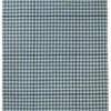 """Blue/Black """"Lotus"""" Checked Pattern Rug ( L: 240cm W: 170cm )"""