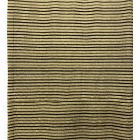 "Throw 12' x 3'4"" Sand Verner Panton Continua III Stripe Wool"