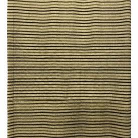 "Throw 12' x 3'4"" Sand Verner Panton Continua III Stripe Wool"