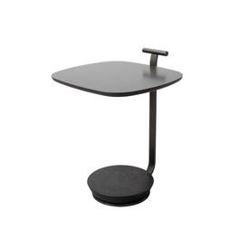 Graphite & Marble Base Square ''Surf'' Lamp Table