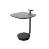 Graphite & Marble Base Square ''surf'' Lamp Table ( H: 56cm W: 45cm D: 43cm )