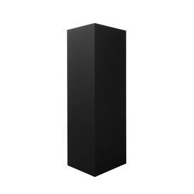 Large Black Wooden Pedestal with Spotlight