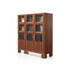 Rosewood & Glass 9 Door Hosiery Cabinet ( H: 138cm W: 122cm D: 43cm )