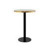"Circular Black & Brushed Gold ""Pigalle"" Poser Table ( H: 101cm Diam: 70cm)"