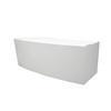 "Curved White ""Ad2"" Executive Desk With Lip ( H: 79cm L: 220cm W: 100cm )"