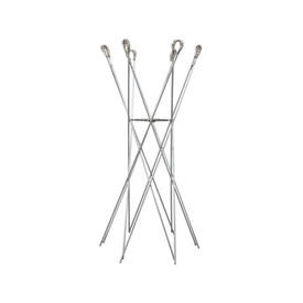 Silver Coat Stand with Springs
