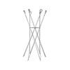 Silver Coat Stand With Springs ( H: 157cm Diam: 75cm)