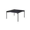 """Square Black Marble """"Plateau"""" Lamp Table On Black Legs ( H: 35cm W: 60cm D: 60cm )"""