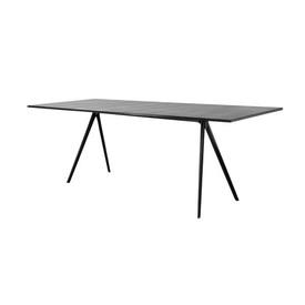 Black Leg ''Baguette'' Dining Table with Black Slate Top