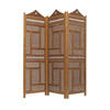 Beaded Teak Carved Pearl Inlaid 3 Fold Screen ( H: 193cm W: 180cm )