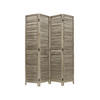 Louvered Shutter 4 Fold Wooden Screen ( H: 175cm W: 160cm )