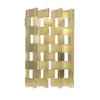Gold Aluminium Multi Panel Folding Screen ( H: 186cm W: 160cm )