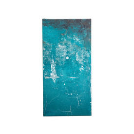 Teal Plaster Effect Panel