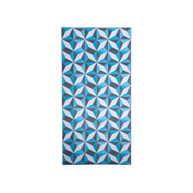 Blue & White Geometric Panel