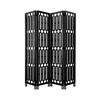 Black Lacquer Geometric Folding Screen On Silver Feet ( H: 225cm W: 200cm )