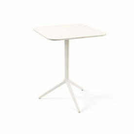 White Square Flip Top Central Cafe Table