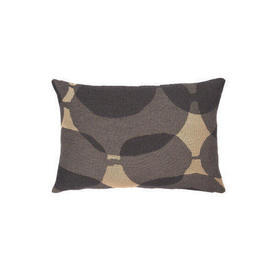 60Cm X 40Cm Rect 2 Tone Grey & Beige ''Connected Dots'' Cushion