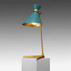 Gold Base Peggy Table Lamp with Teal Shade