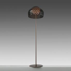 """Ochre Brown Perspex Perforated """"Tatou"""" Standard Lamp"""