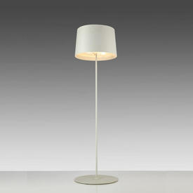 """White """"Twiggy"""" Standard Lamp with White Drum Shade"""