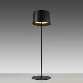 """Black """"Twiggy"""" Standard Lamp with Black Drum Shade + 2 Diffusers"""