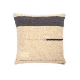 Square Cream, Grey & Black ''Urban'' Wool Mix Cushion