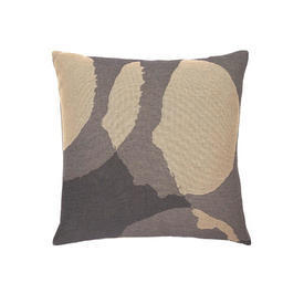 Square 2 Tone Grey & Beige ''Layered Dots'' Cushion