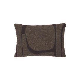 Rect 2 Tone Brown ''Moro Abstract'' Cushion