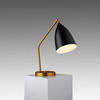 "Gold ""Grasshopper"" Desk Lamp with Black Shade"