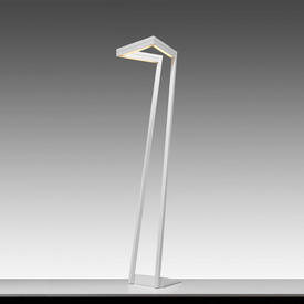 Matt White Angled Led Floor Lamp