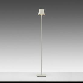 "Matt White Led ""Poldina"" Floor Lamp & Charger (Charger Rv £40 + Vat If Not Returned)"