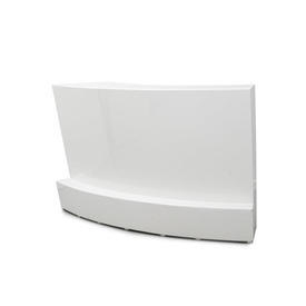 """Curved White Lacquer """"AD"""" Bar"""