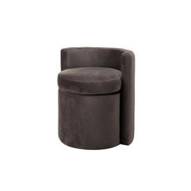 "Smokey Grey Velvet ""Arcadia"" Low Back Tub Chair"