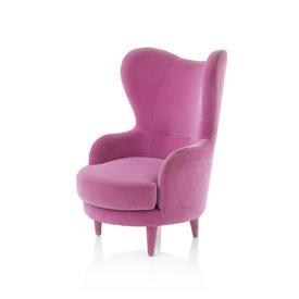 """Pink Velvet """"Kay"""" Highback Chair"""