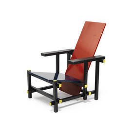 Steeline Red Yellow Blue Rietveld ''Memphis'' Chair