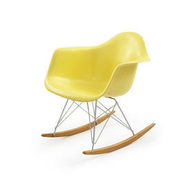 Yellow Fibreglass Eames Rocking Chair