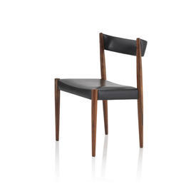 Rosewood & Black Vinyl Dressing Table Chair