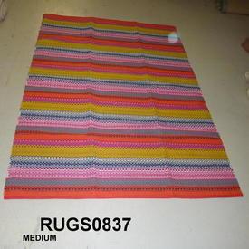 Habitat Agnes Medium Multi-Colour Stripe Cotton Rug 140X200